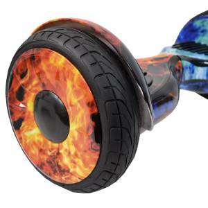 SMART BALANCE HOVERBOARD BIG WHEEL BLUETOOTH & LED ΗΛΕΚΤΡΙΚΟ ΠΑΤΙΝΙ FIRE vs WATER 10.5''