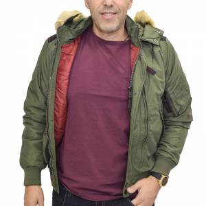 BISTON JACKET DARK GREEN ΜΠΟΥΦΑΝ ΧΑΚΙ 40-201-077