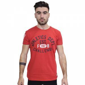 FUNKY BUDDHA ALTHELTIC WALL T-SHIRT RED FBM040-04118