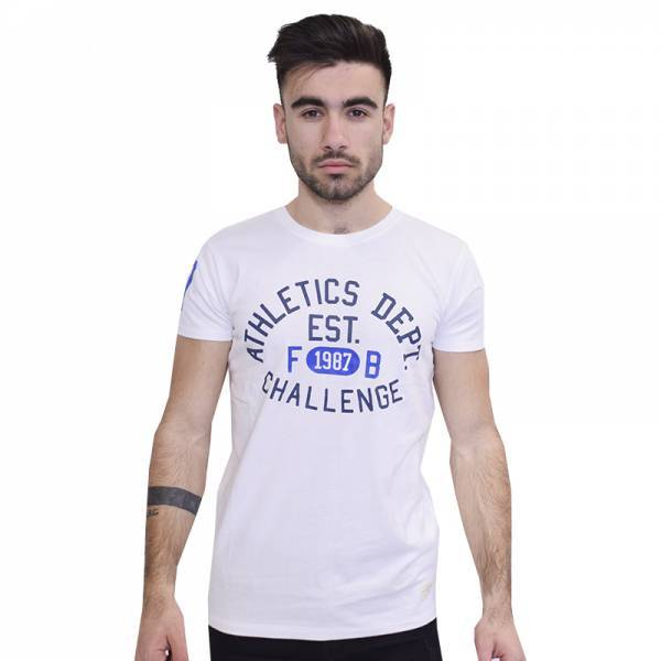 FUNKY BUDDHA ALTHELTIC WALL T-SHIRT WHITE FBM040-04118