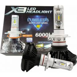 ΣΕΤ 2 ΤΕΜΑΧΙΩΝ ΛΑΜΠΕΣ AUTO MOTO LED 50W/6000LM/6000K H4 X3LED HEADLIGHT