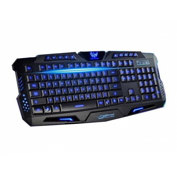 GAMING KEYBOARD ERGONOMIC TRICOLOR BACKLIGHT HK-M200 WIRED