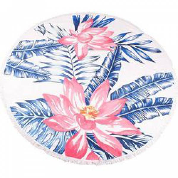 TROPICAL FLOWER BEACH TOWEL - ΠΕΤΣΕΤΑ ΘΑΛΑΣΣΗΣ ΣΤΡΟΓΓΥΛΗ ΛΟΥΛΟΥΔΙΑ Φ150