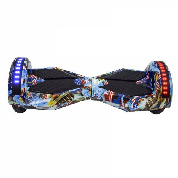"""SMART BALANCE HOVERBOARD TRANSFORMERS BLUETOOTH & LED ΗΛΕΚΤΡΙΚΟ ΠΑΤΙΝΙ CAPTAIN AMERICA  8"""" SPECIAL EDITION"""