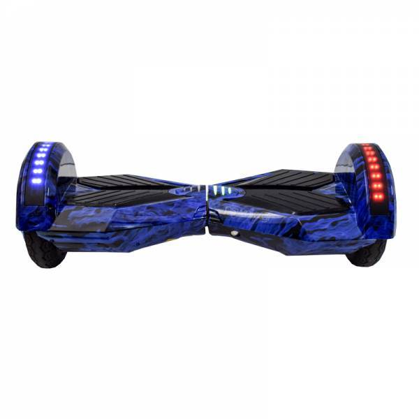 """SMART BALANCE HOVERBOARD TRANSFORMERS BLUETOOTH & LED ΗΛΕΚΤΡΙΚΟ ΠΑΤΙΝΙ BLUE FLAMES 8"""" SPECIAL EDITION"""