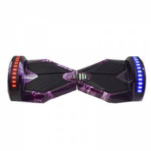 SMART BALANCE HOVERBOARD TRANSFORMERS BLUETOOTH & LED ΗΛΕΚΤΡΙΚΟ ΠΑΤΙΝΙ PURPLE WORLD 8""