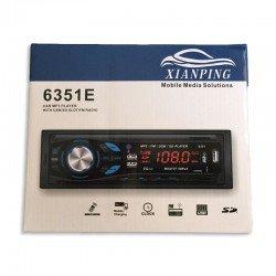 ΡΑΔΙΟ USB MP3/WMA PLAYER ΑΥΤΟΚΙΝΗΤΟΥ OEM 6351E