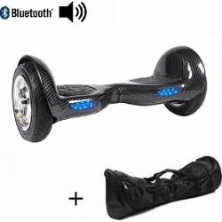 SMART BALANCE HOVERBOARD WITH BLUETOOTH & LED ΗΛΕΚΤΡΙΚΟ ΠΑΤΙΝΙ CARBON 10''