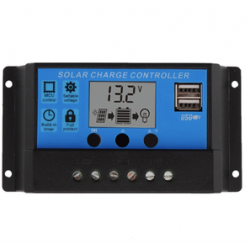 PWM 20A DUAL USB SOLAR PANEL BATTERY REGULATOR CHARGE CONTROLLER 12V/24V