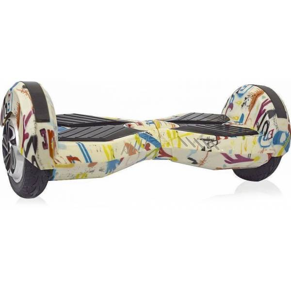 KIKKABOO HOVERBOARD WHEEL WITH BLUETOOTH & LED ΗΛΕΚΤΡΙΚΟ ΠΑΤΙΝΙ ALIEN GRAFFITI 8""