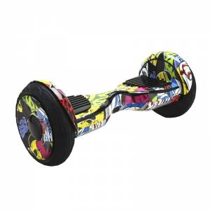 SMART BALANCE HOVERBOARD BIG WHEEL BLUETOOTH & LED ΗΛΕΚΤΡΙΚΟ ΠΑΤΙΝΙ SKULL 10.5''
