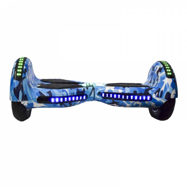 ROODER HOVERBOARD WHEEL BLUETOOTH & LED ΗΛΕΚΤΡΙΚΟ ΠΑΤΙΝΙ ARMY BLUE 10""