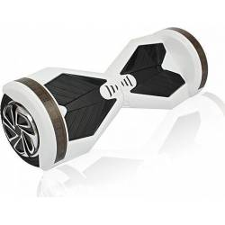 SMART BALANCE HOVERBOARD WHEEL WITH BLUETOOTH & LED ΗΛΕΚΤΡΙΚΟ ΠΑΤΙΝΙ WHITE BLACK 8''
