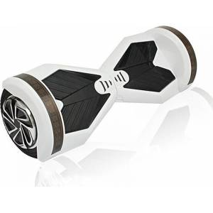 SMART BALANCE HOVERBOARD WHEEL WITH BLUETOOTH & LED ΗΛΕΚΤΡΙΚΟ ΠΑΤΙΝΙ WHITE BLACK 8'' + ΤΣΑΝΤΑ ΜΕΤΑΦΟΡΑΣ