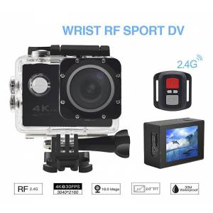 ACTION CAMERA ΑΔΙΑΒΡΟΧΗ SPORTS CAM WIFI+WRIST RF 4K REMOTE OEM