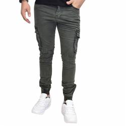 AL FRANCO JEANS CARGO GREEN WW-5223
