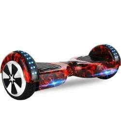 SMART BALANCE HOVERBOARD WHEEL WITH BLUETOOTH & LED RED FIRE 6.5''