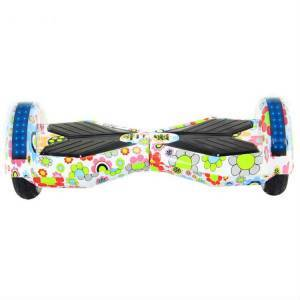 ROODER HOVERBOARD WHEEL WITH BLUETOOTH & LED ΗΛΕΚΤΡΙΚΟ ΠΑΤΙΝΙ FLOWERS 8