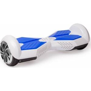 SMART BALANCE HOVERBOARD WHEEL WITH BLUETOOTH & LED LAMBORGHINI ΗΛΕΚΤΡΙΚΟ ΠΑΤΙΝΙ WHITE BLUE 8''