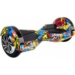 SMART BALANCE HOVERBOARD WHEEL WITH BLUETOOTH & LED ΚΙΤΡΙΝΟ HIP HOP 8''