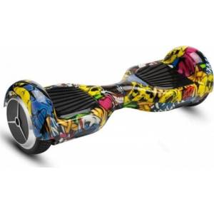SMART BALANCE HOVERBOARD WHEEL WITH BLUETOOTH & LED ΚΙΤΡΙΝΟ HIP HOP 6.5''