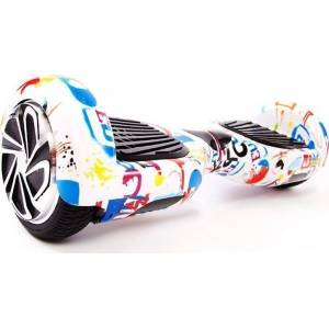 SMART BALANCE HOVERBOARD WHEEL WITH BLUETOOTH & LED ΑΣΠΡΟ HIP HOP 6.5''