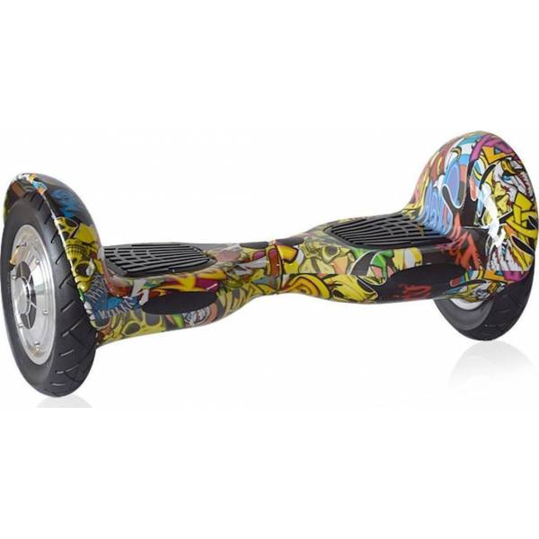 "KIKKABOO HOVERBOARD WHEEL WITH BLUETOOTH & LED ΗΛΕΚΤΡΙΚΟ ΠΑΤΙΝΙ GRAFFITI I-BEX 10 SBB 10"" OEM"