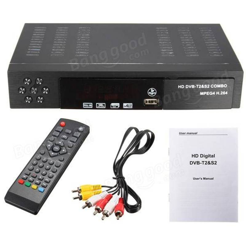 mpeg4 dvb t2 hd sdtv receiver digital teleision box black. Black Bedroom Furniture Sets. Home Design Ideas