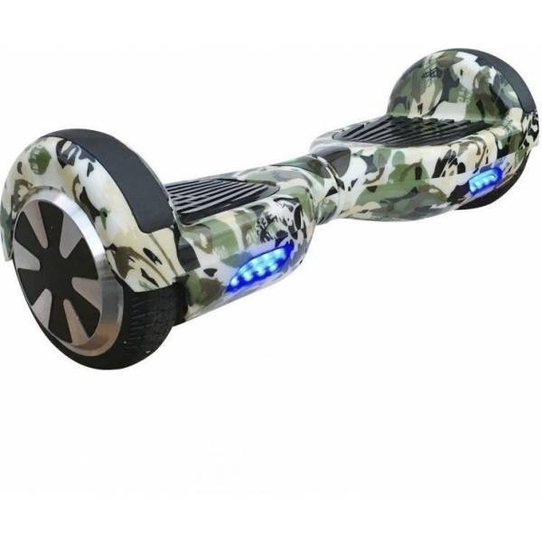 SMART BALANCE HOVERBOARD WHEEL WITH BLUETOOTH & LED ΗΛΕΚΤΡΙΚΟ ΠΑΤΙΝΙ 6,5'' CAMOUFLAGE