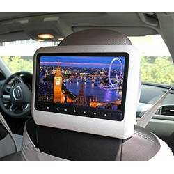 UNIVERSAL 9 INCH CAR CLIP ON HEADREST DVD PLAYER WITH USB/SD